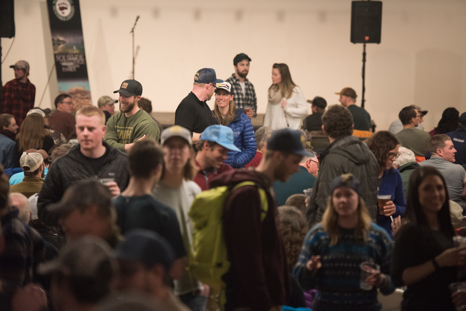 Attendees enjoy Montana craft beer and live stories