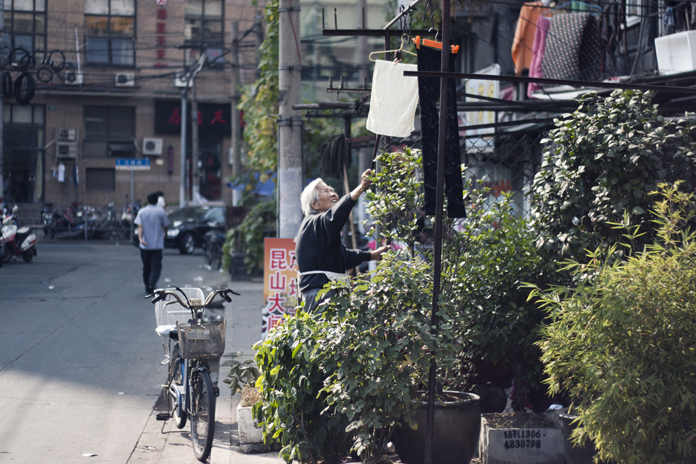 Gadestemning i Shanghai.