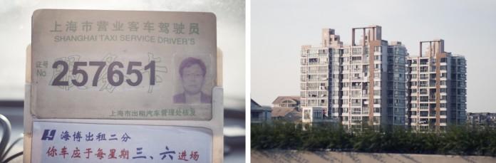 Billeder fra en taxatur i Shanghai.