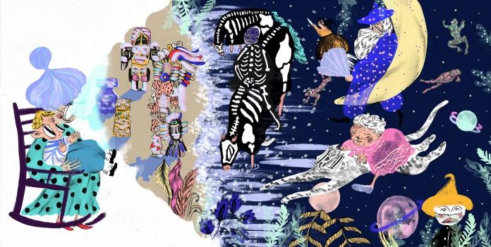 """Proces og opslag fra børnebogen """"Drengen der talte alting"""" af Kim Fupz Aakeson."""