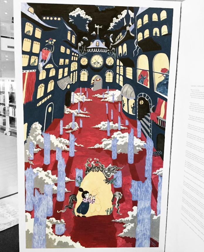 'Live-drawing' fra Malmö Stadtsbibliotek i samarbejde med Gustaf Holtenäs, kurateret af Little Finger Magazine.
