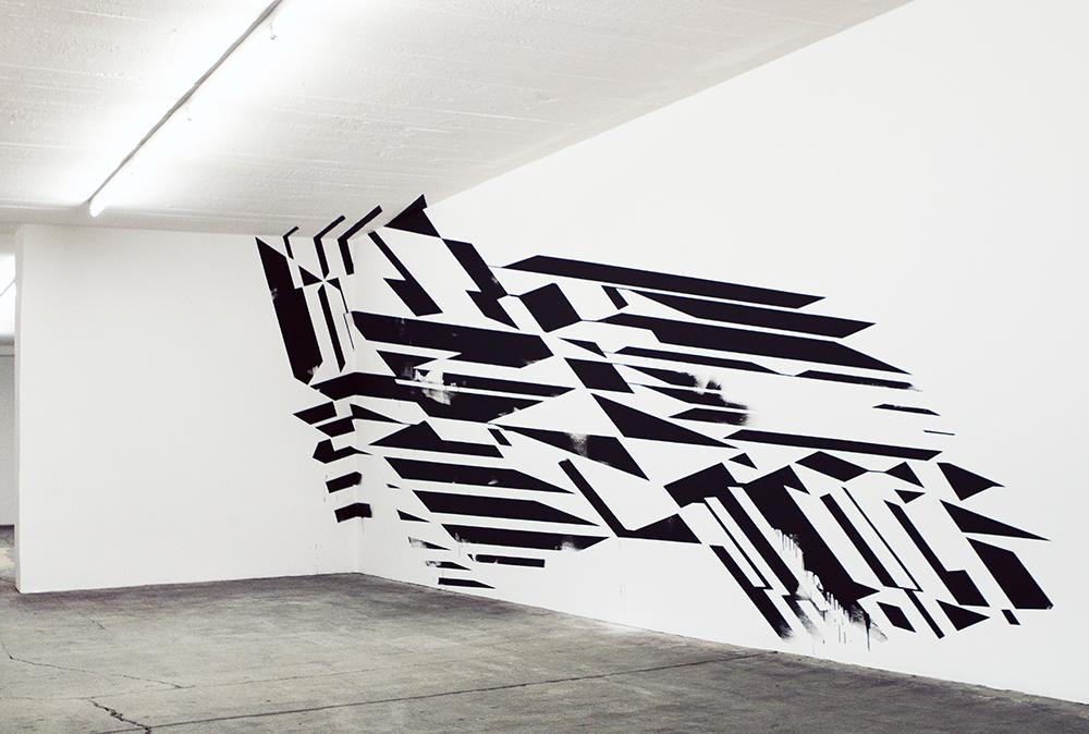 Work by Anselm Reyle.