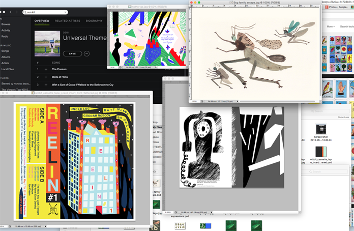 A screen shot from my computer desktop with some of the things that I am working on at the moment.