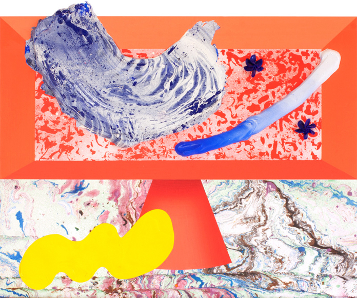 Condiments No. 5 | Acrylic, enamel and collage on panel.
