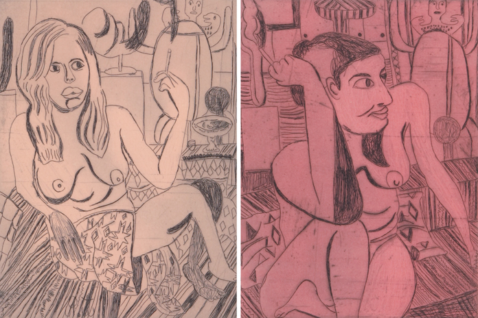 """Tal R. """"Girl smoking"""" series, 2014 