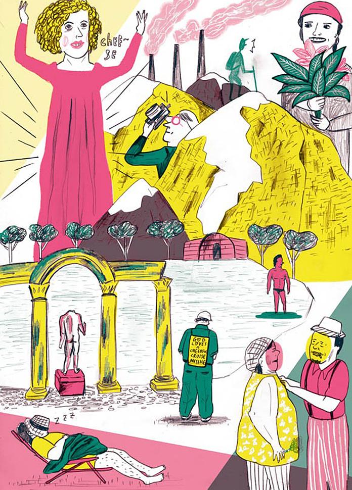 Illustrations by Ji Huyn Yu.