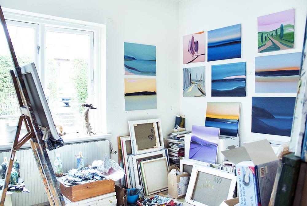 Camilla West's atelier | All photos by Rikke Luna & Matias © I DO ART Agency.