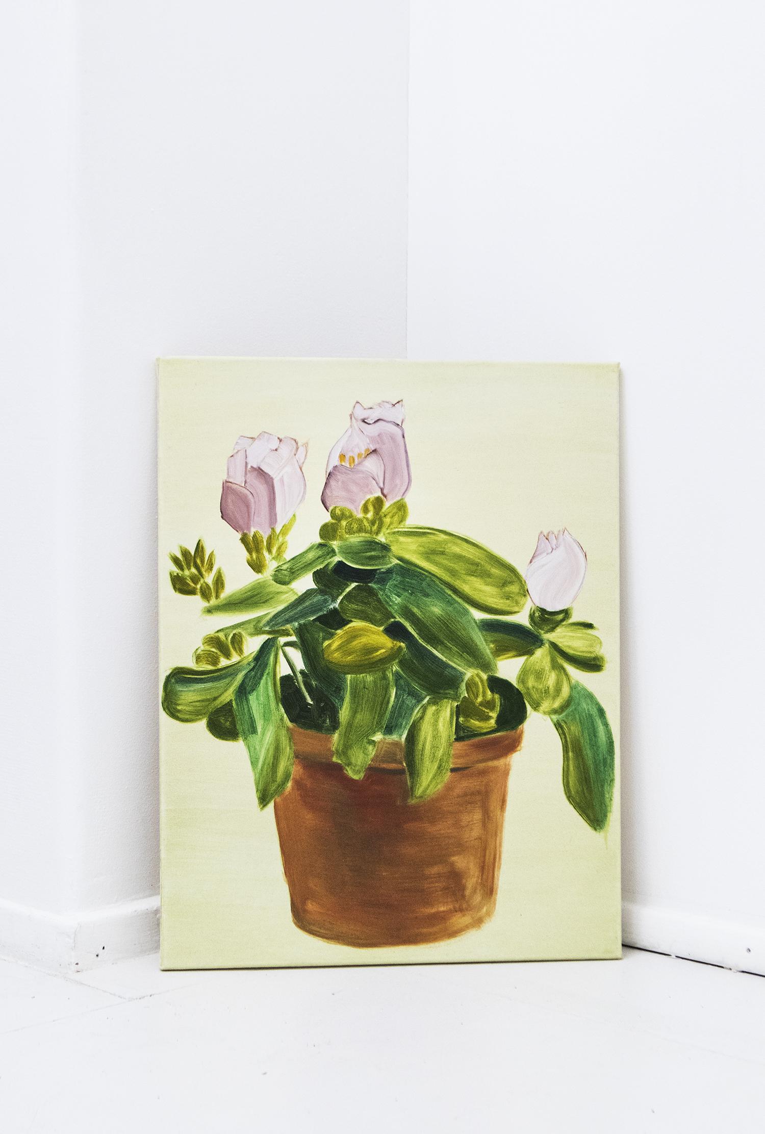 "Adam Fenton ""Small rhododendron"", 2016 (oil on canvas, 65x49.5cm) | Foto © I DO ART Agency."