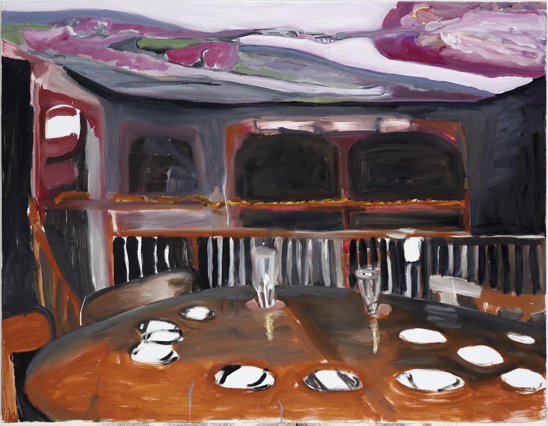Maria Wæhrens,  Drunk , 2010, olie på lærred, 100x130 cm.