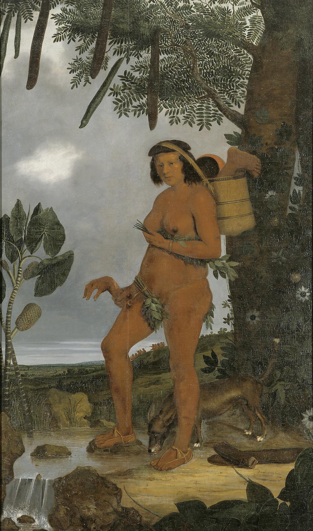"""Alfred Echout """"Tarairiu kvinden"""", 1641. Nationalmuseet Danmark"""