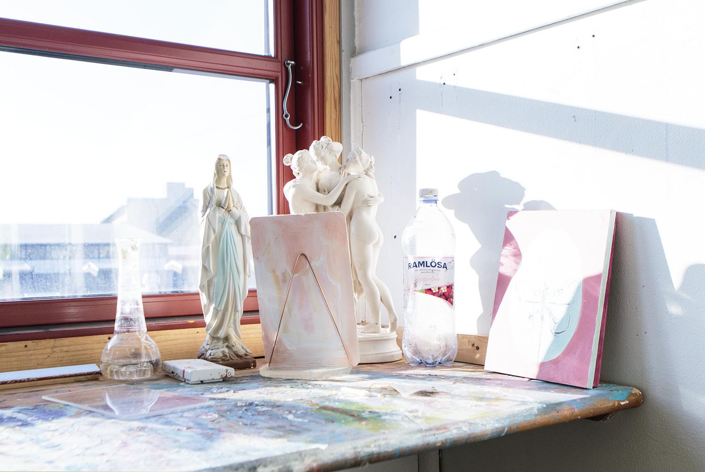 Anna Sjöströms atelier, 2017   Foto: Rikke Luna & Matias © I DO ART Agency.