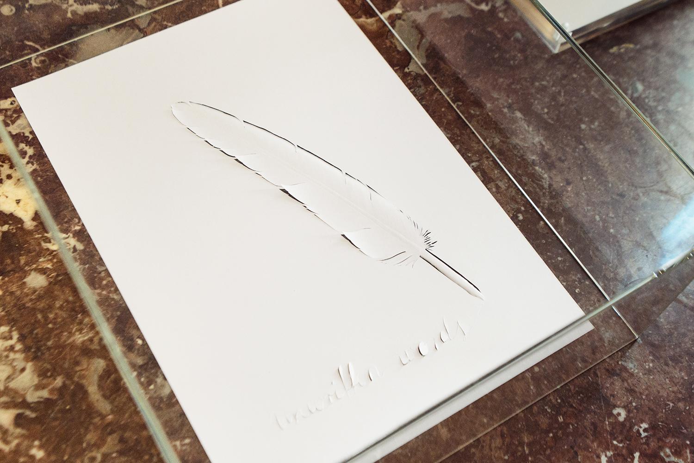 "Peter Callesen ""Unwritten Words"", 2017 I Foto: Rikke Luna & Matias © I DO ART Agency."