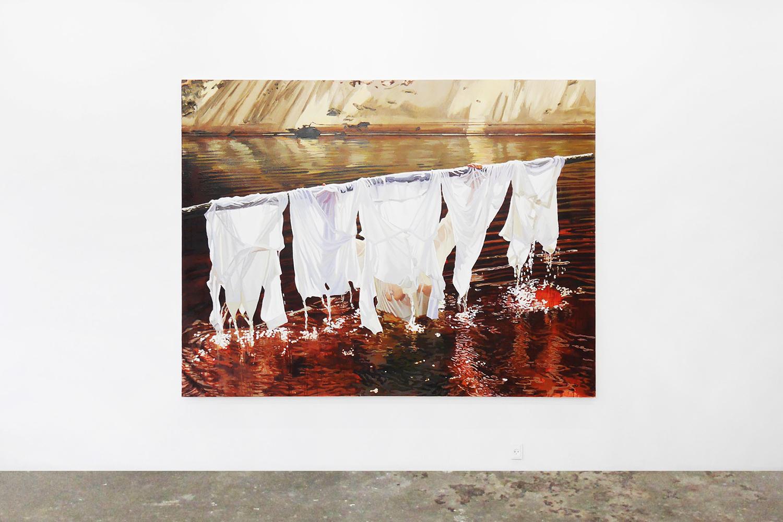 "Sara-Vide Ericson ""The Dark White Redemption"", 2016 (Oliemaling på lærred) | V1 Gallery."