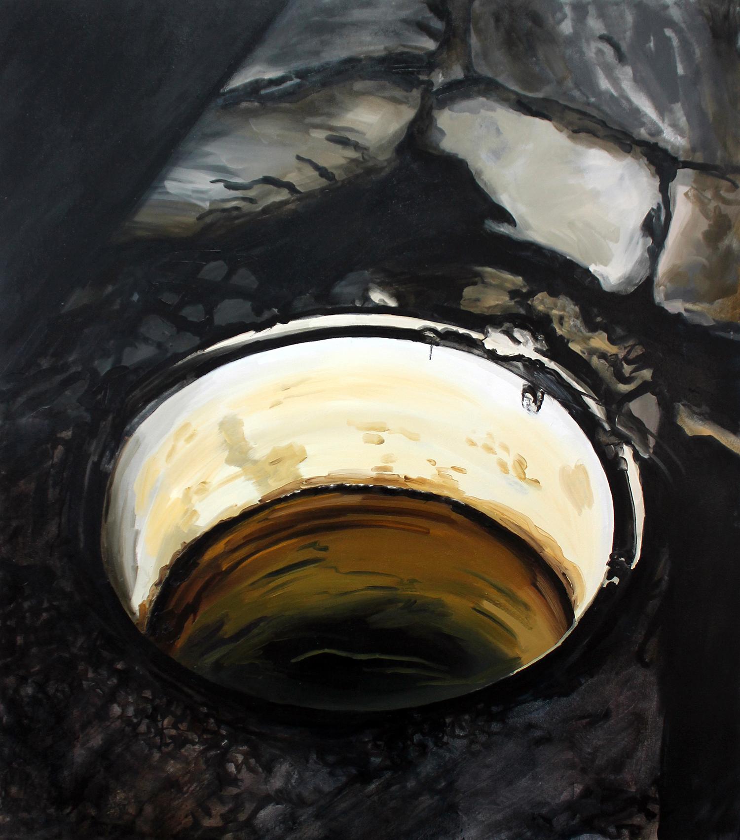 """Sara-Vide Ericson """"The Source"""", 2015 (Oliemaling på lærred)."""