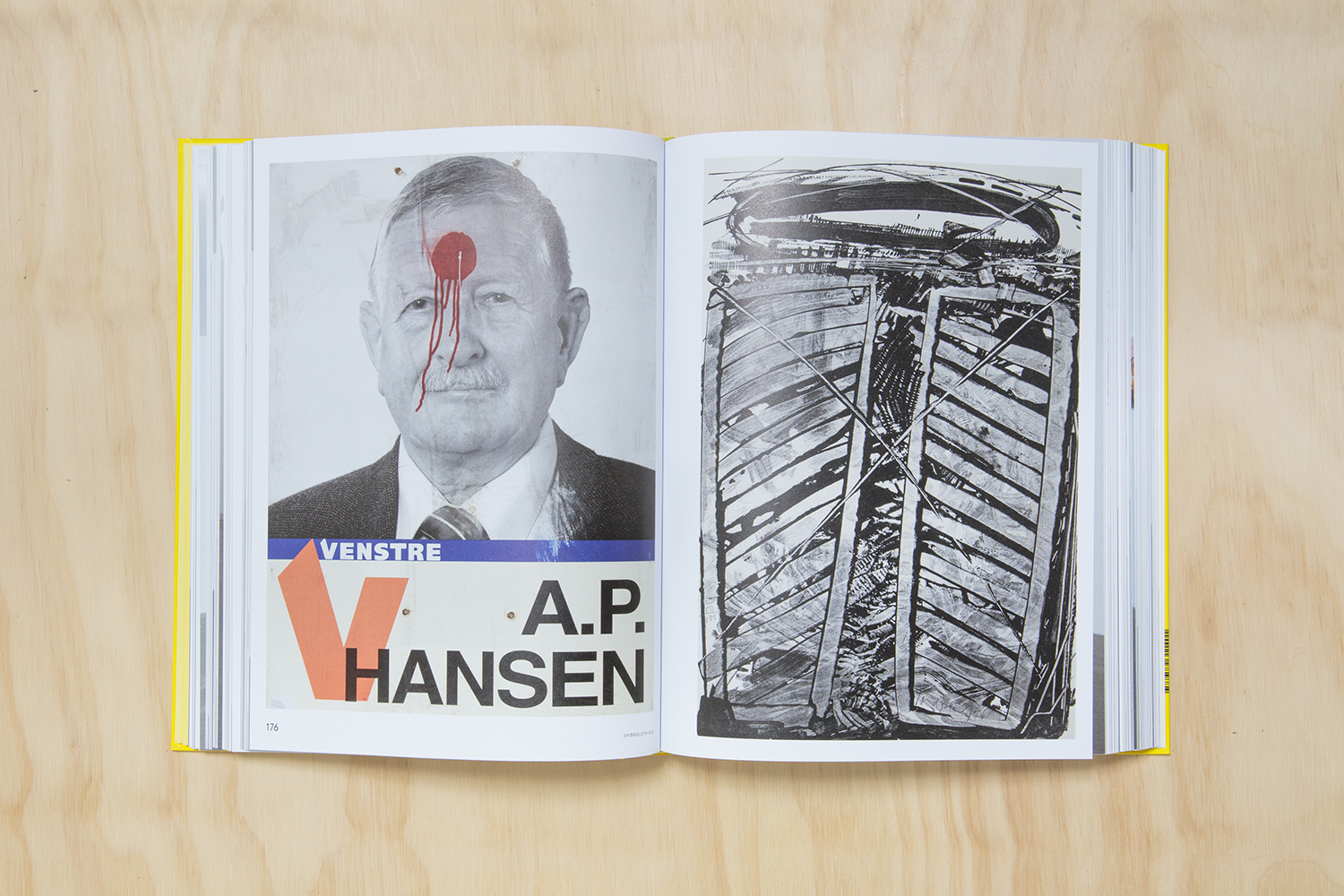 """Shibboleth #22, 2011   Anonymous """"Untitled"""" (Defaced election poster), 2006 + K.R.H. Sonderborg """"Untitled"""", 1976."""