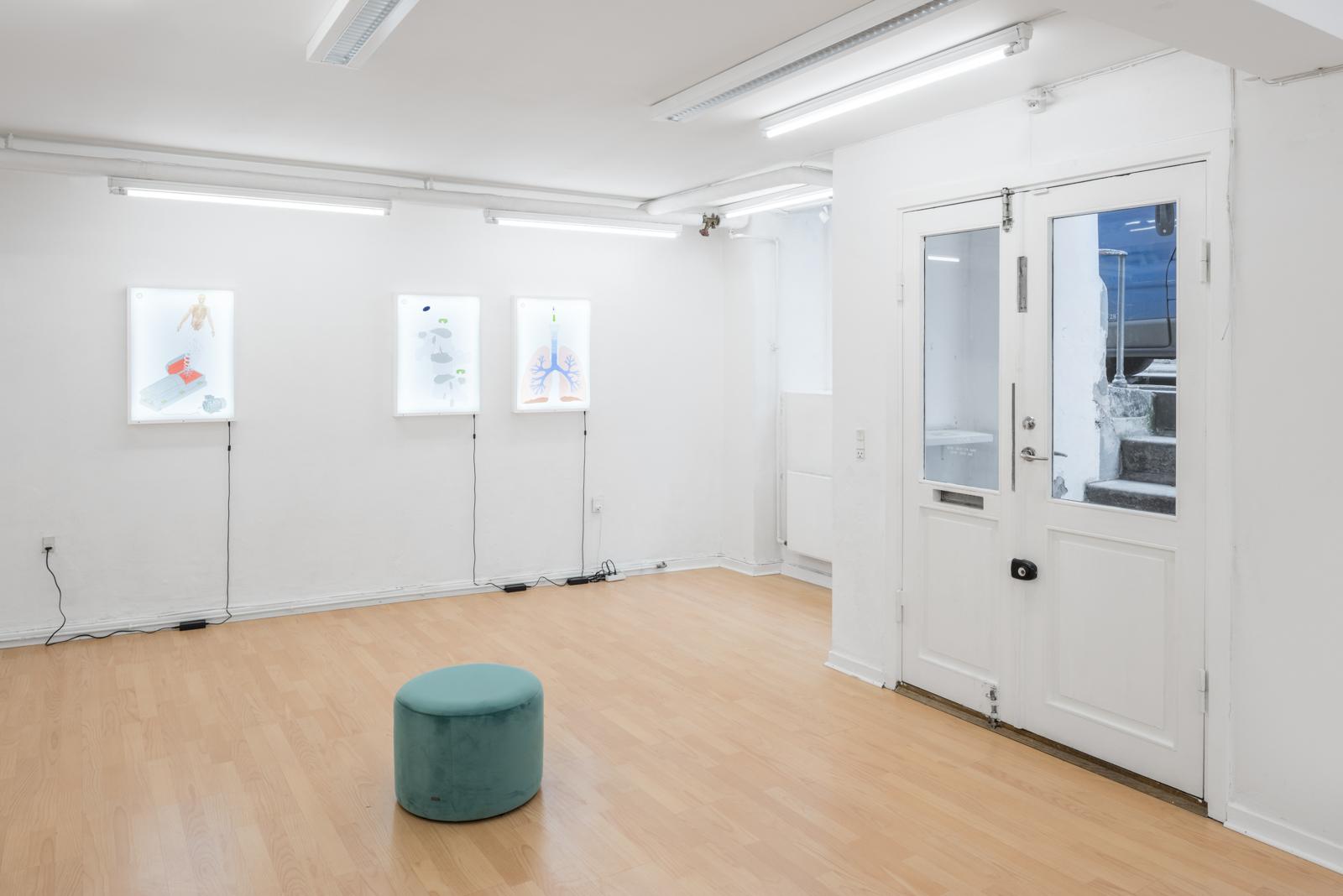 Installation view, 'Imagineering' by Piscine Think Tank | Photo: David Stjernholm.