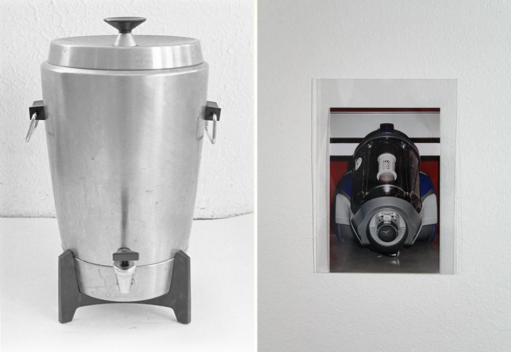 Tv: Michael Smith, My First Photograph, 1972. | Th: Sara Deraedt, Samsung, 2015. Courtesy the artists.