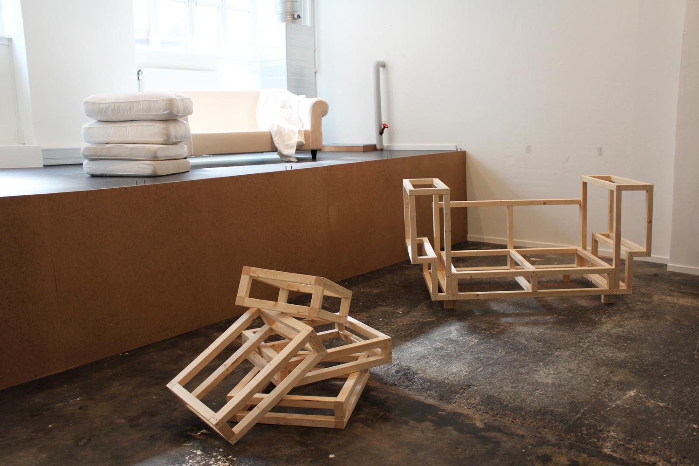 Line Hvidbjerg, Uden titel (open studio), 2016. Foto: Line Hvidbjerg.