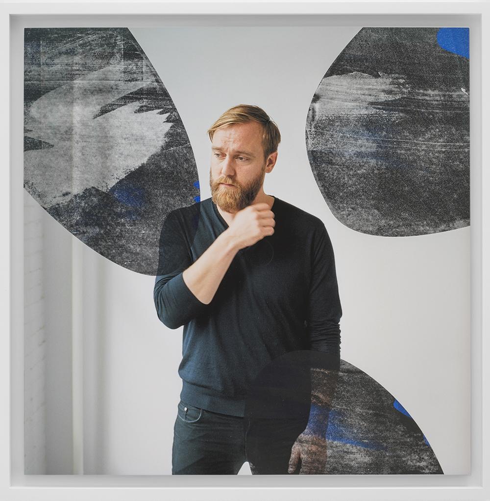 "Thomas Dozol  ""41.B/Bl,""  2017. Unique screenprint on inkjet, (mounted on aluminium) 56 x 56 cm. Courtesy Thomas Dozol."