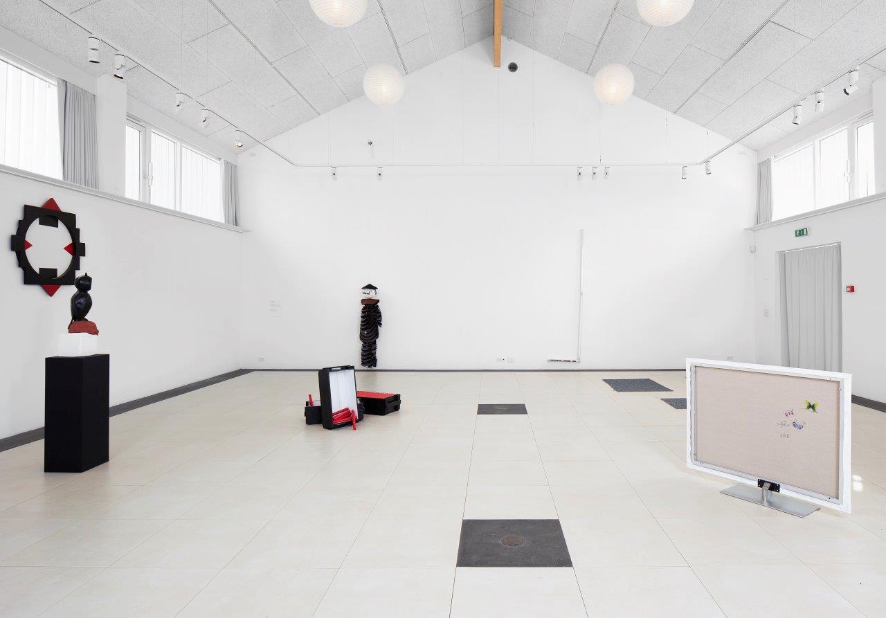 """Interdimensionale 1"" (installation view)."