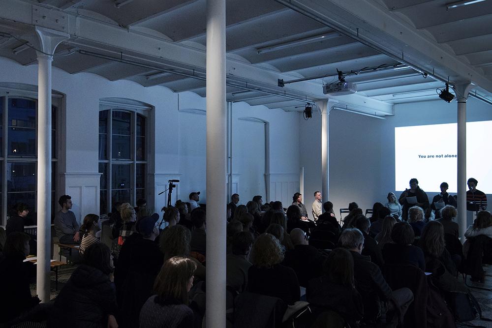 """Fra seminaret """"En ny samtale"""" på Overgaden, 2018. Foto © I DO ART Agency."""