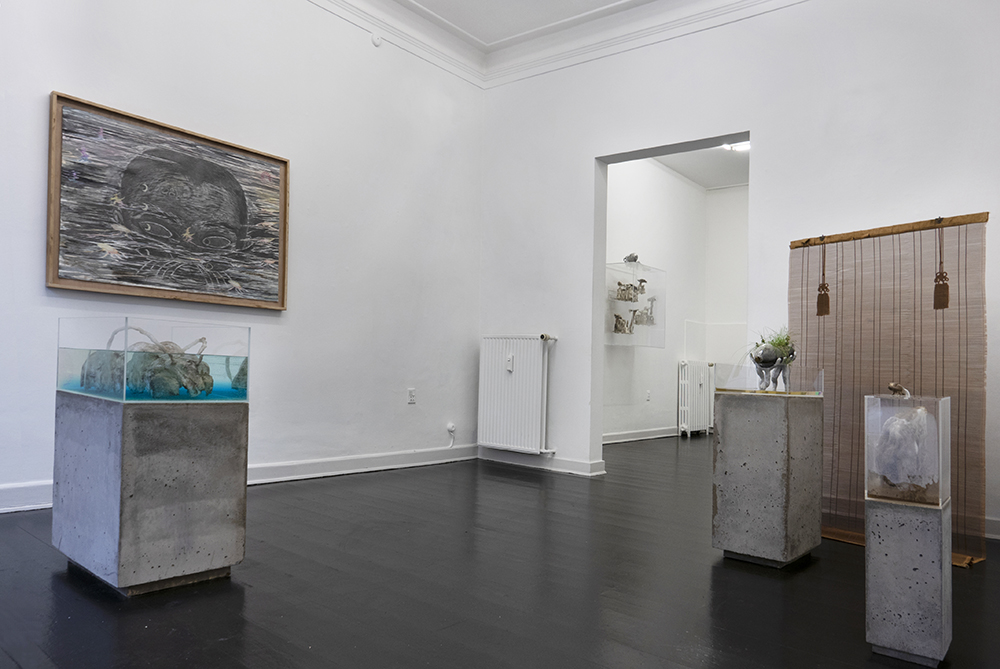 Silas Inoue, owΔηi�a station. Installation view Marie Kirkegaard Gallery.