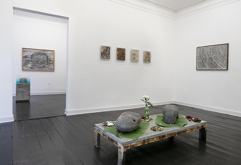 Silas Inoue, owΔηi�a station. Installation view, Marie Kirkegaard Gallery.