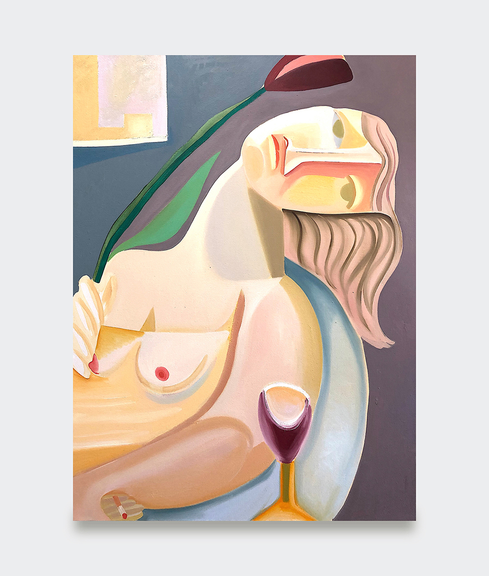 Danielle Orchard, 3PM, 2019 (oil on canvas, 129,5 x 96,5 cm).