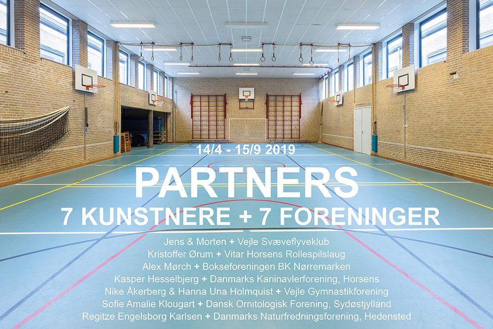 PARTNERS 7 kunstnere + 7 foreninger. 14/4 - 15/9 2019 på Vejle Kunstmuseum.