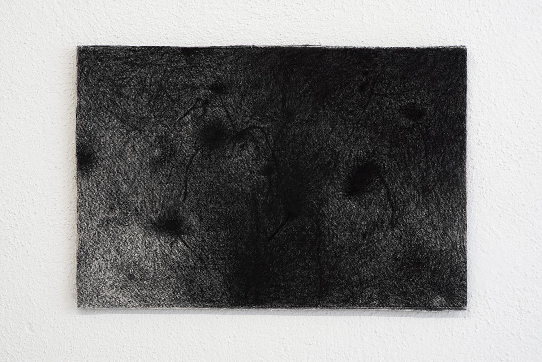 "Morten Knudsen ""Nat Arbejde I,� 2017 (Charcoal, canvas, Dibond. 40,3 x 27 cm). Photo by Brian Kure."