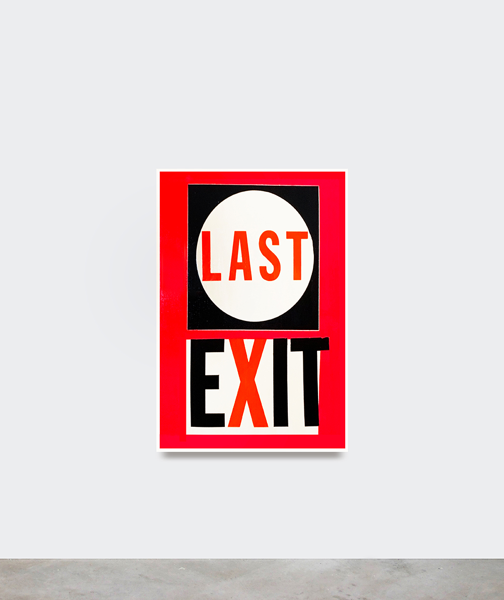 Cali Thornhill DeWitt, Last Exit, 2019  (Inkjet and acrylic on canvas, 122 x 91,5 cm).