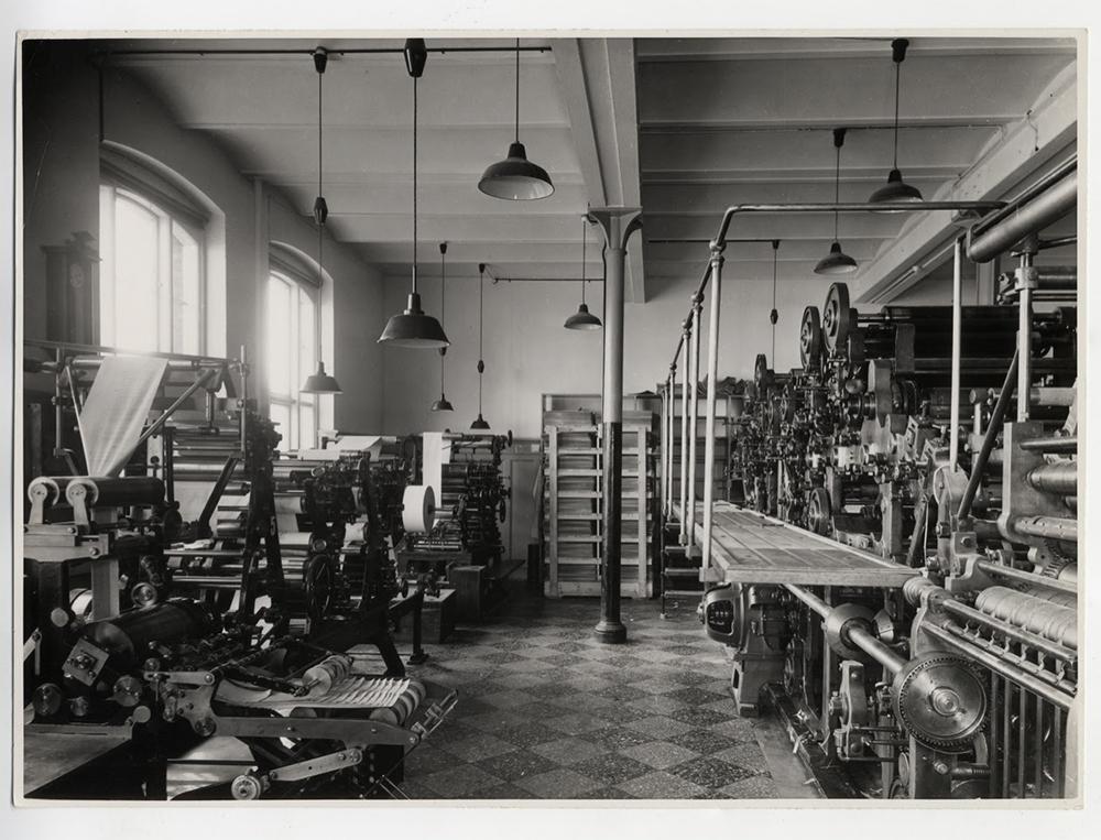 Centraltrykkeriet, Overgaden Neden Vandet 17, 1940. Foto fra det lokalhistoriske arkiv.