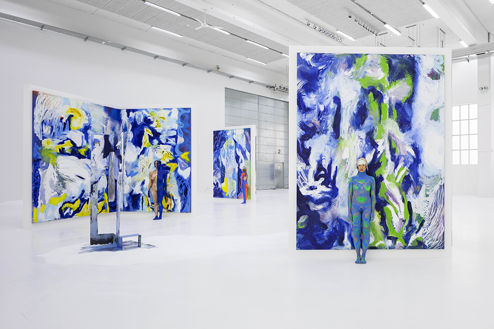 Donna Huanca, LENGUA LLORONA (2019). Installation view at Copenhagen Contemporary. Photo: Anders Sune Berg.