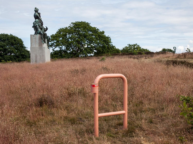 """Mirjam Thomann """"Lean in."""" Nordkystens Kunsttriennale 2016."""