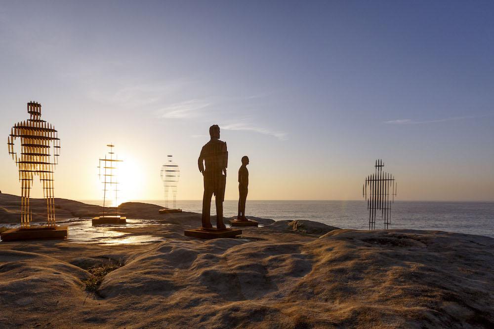 April Pine, 'Shifting Horizons', Sculpture by the Sea, Bondi 2018. Photo: Jessica Wyld.
