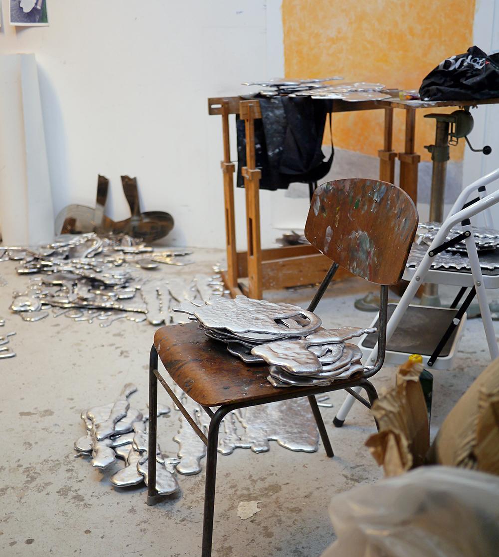 Marianne Hesselbjergs værksted. Foto: Fabrikken for Kunst og Design.