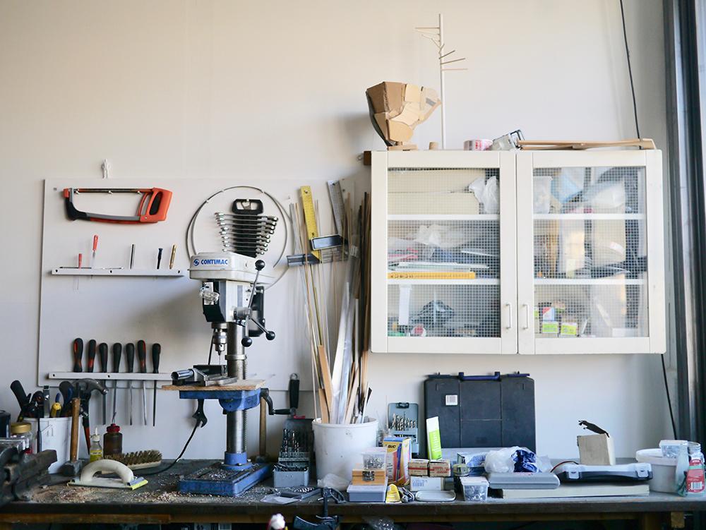Henrik Mennés værksted. Foto: Fabrikken for Kunst og Design.