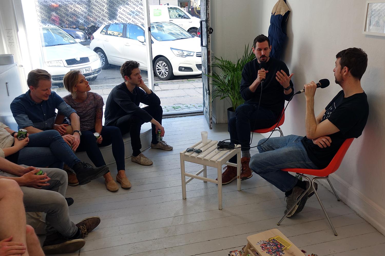 Artist talk. Foto: Rikke Ehlers Nilsson.