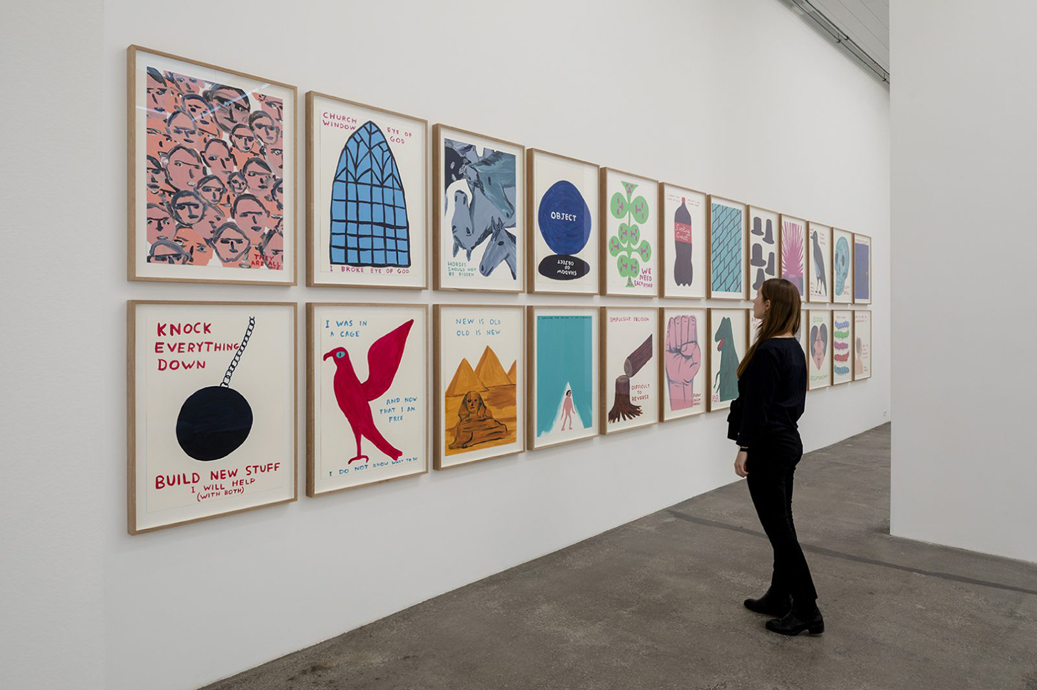 """David Shrigley """"EXHIBITION OF GIANT INFLATABLE-SWAN THINGS AND OTHER THINGS� (installation view). Photo: Anders Sune Berg."""