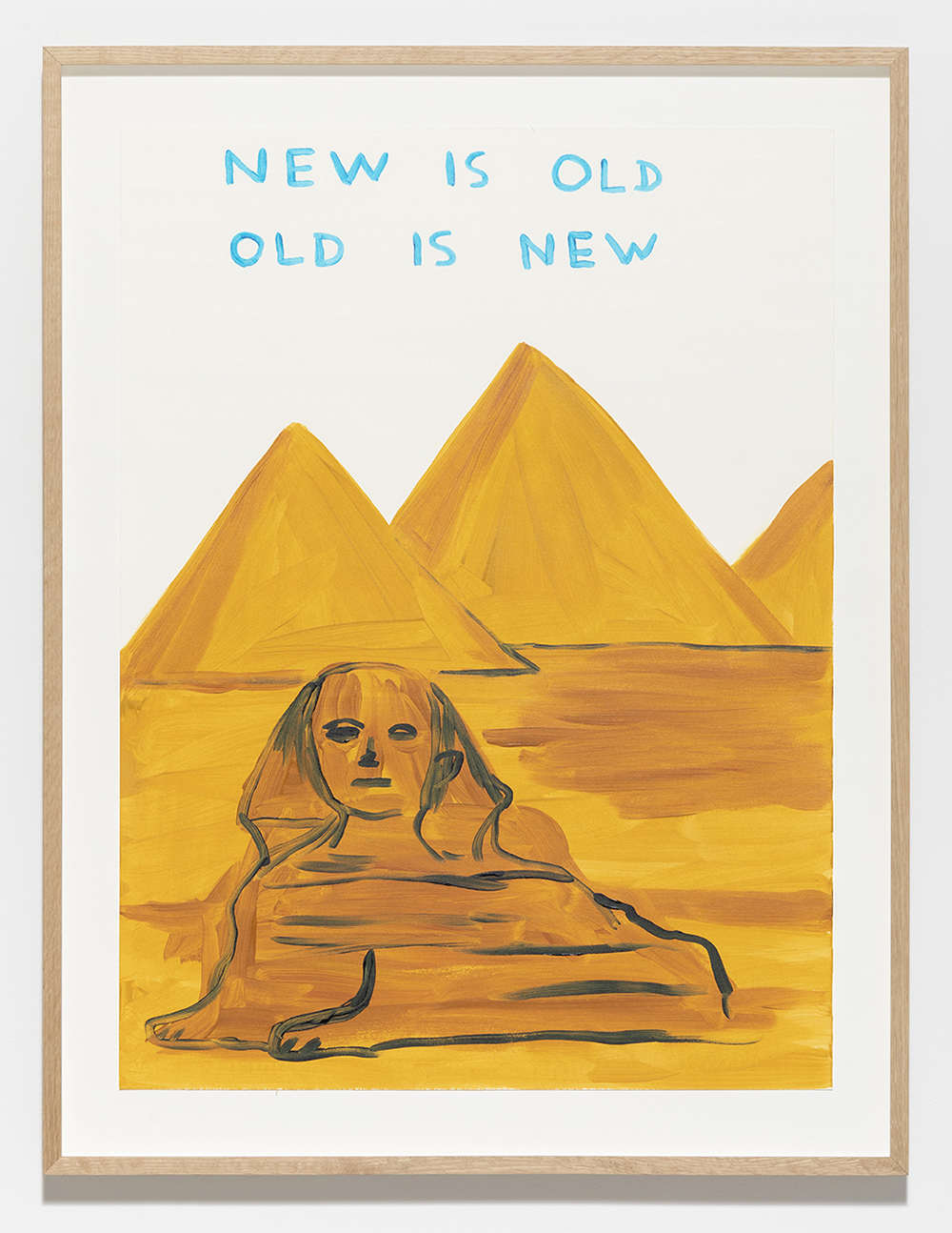 """David Shrigley """"Untitled (New Is Old, Old Is New), 2019.  Photo: Anders Sune Berg."""