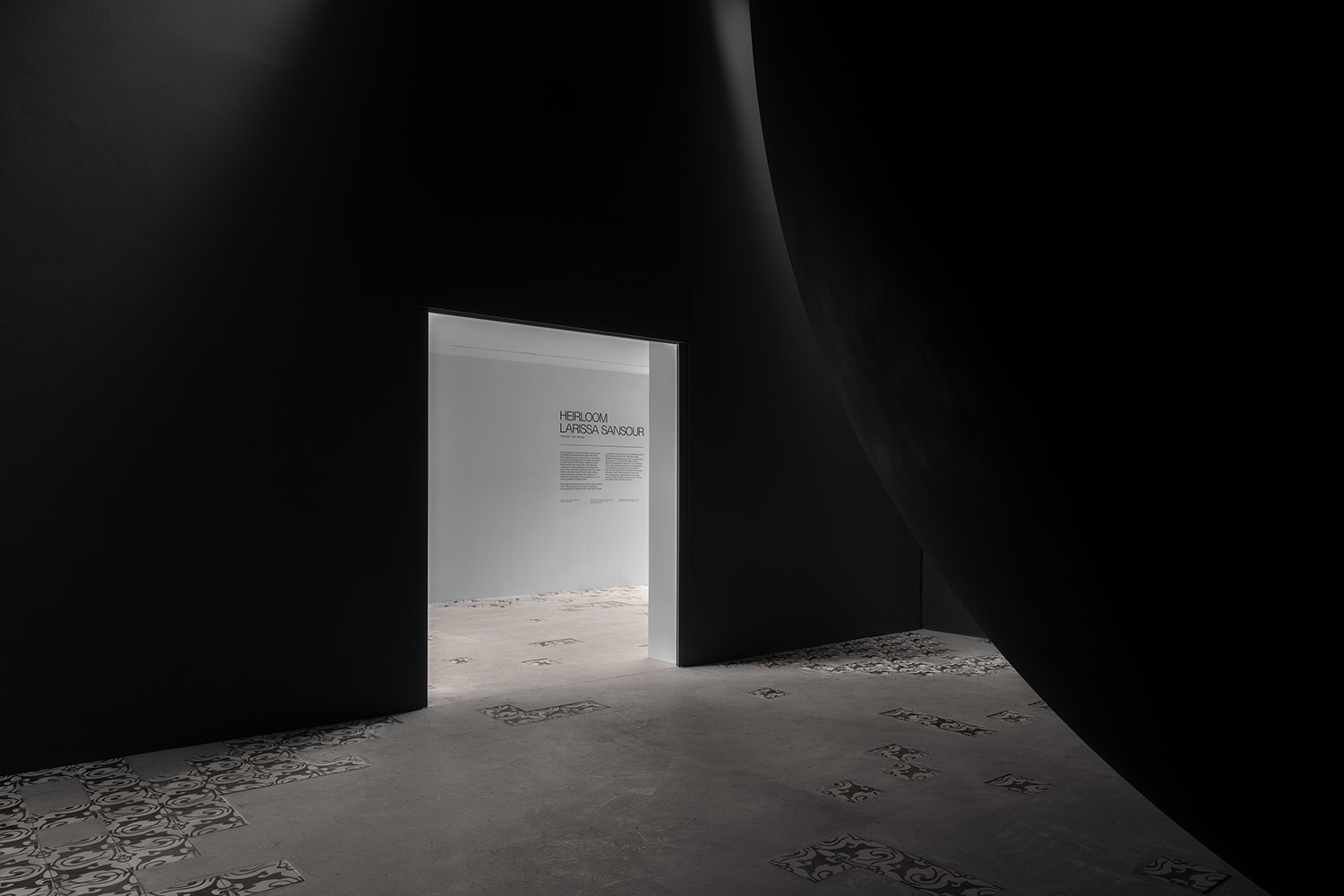 "Larissa Sansour & Søren Lind ""A Monument for Lost Time�, 2019 (installation view). Photo: Ugo Carmeni."