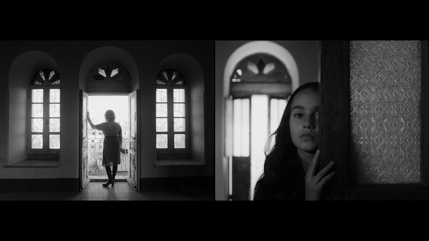 "Larissa Sansour & Søren Lind ""In Vitro�, 2019 (2-channel black and white film. 27 mins 44 secs). Courtesy of the artists."