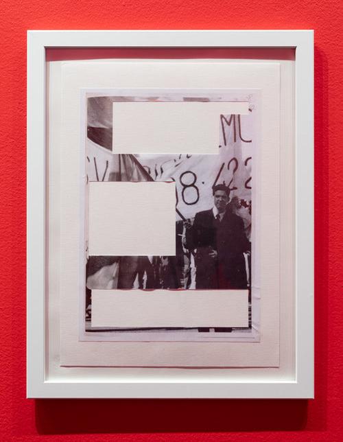 """Johan Tirén """"Og vi så den anden vej,"""" 2019 (14 x collager, indrammet. Hver 30 x 40 cm). © Johan Tirén."""