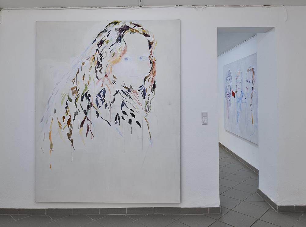 """Vivi Christensen """"BLIK / Datter� (Akryl på lærred 170 x 200 cm). Foto: Kirstine Mengel."""