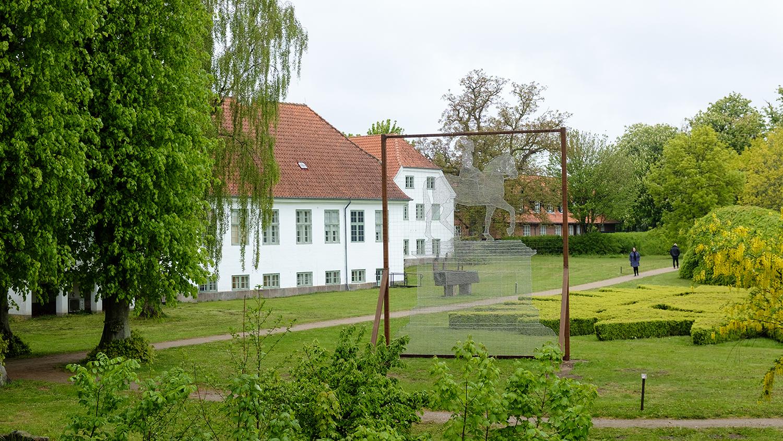 En Rytter på Hollufgård. Foto: Niels Linneberg.