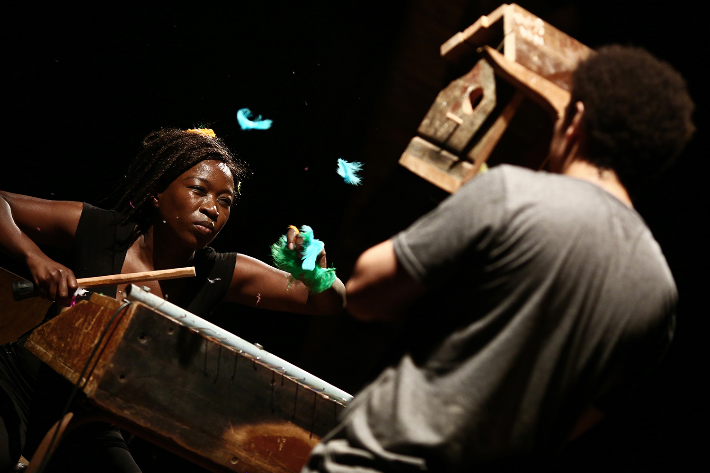 Kemang Wa Lehulere, I cut my skin to liberate the splinter (2017). Performance view. A Performa 17 Commission.  Courtesy of Performa. Photo: Paula Court.
