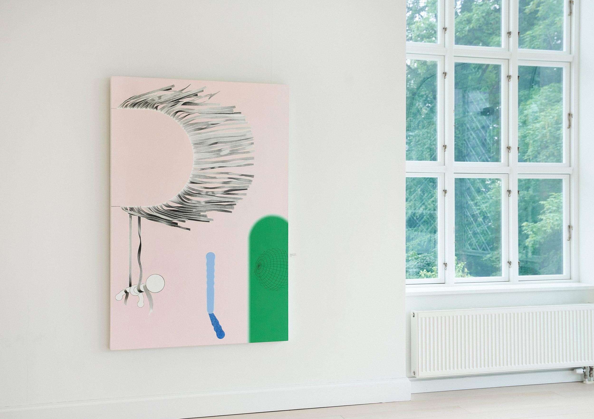 "Lisbeth Eugenie Christensen ""Solo,� 2019 (akryl og blyant på lærred, 180 x 122 cm).  Foto: Nikolaj Thaning Rentzmann."