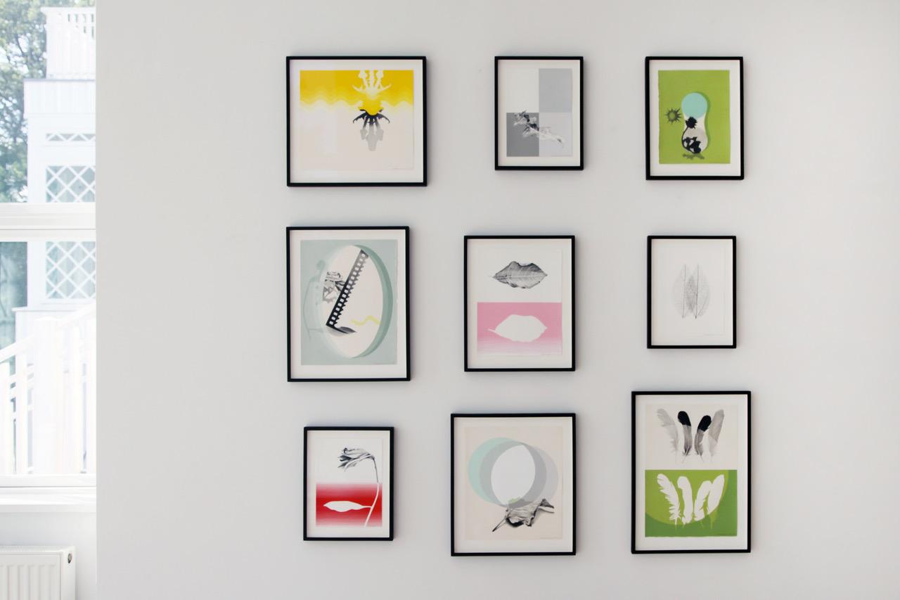 """Lisbeth Eugenue Christensen """"Uden titel,� 2018-19  (blyant og akryl på papir)."""
