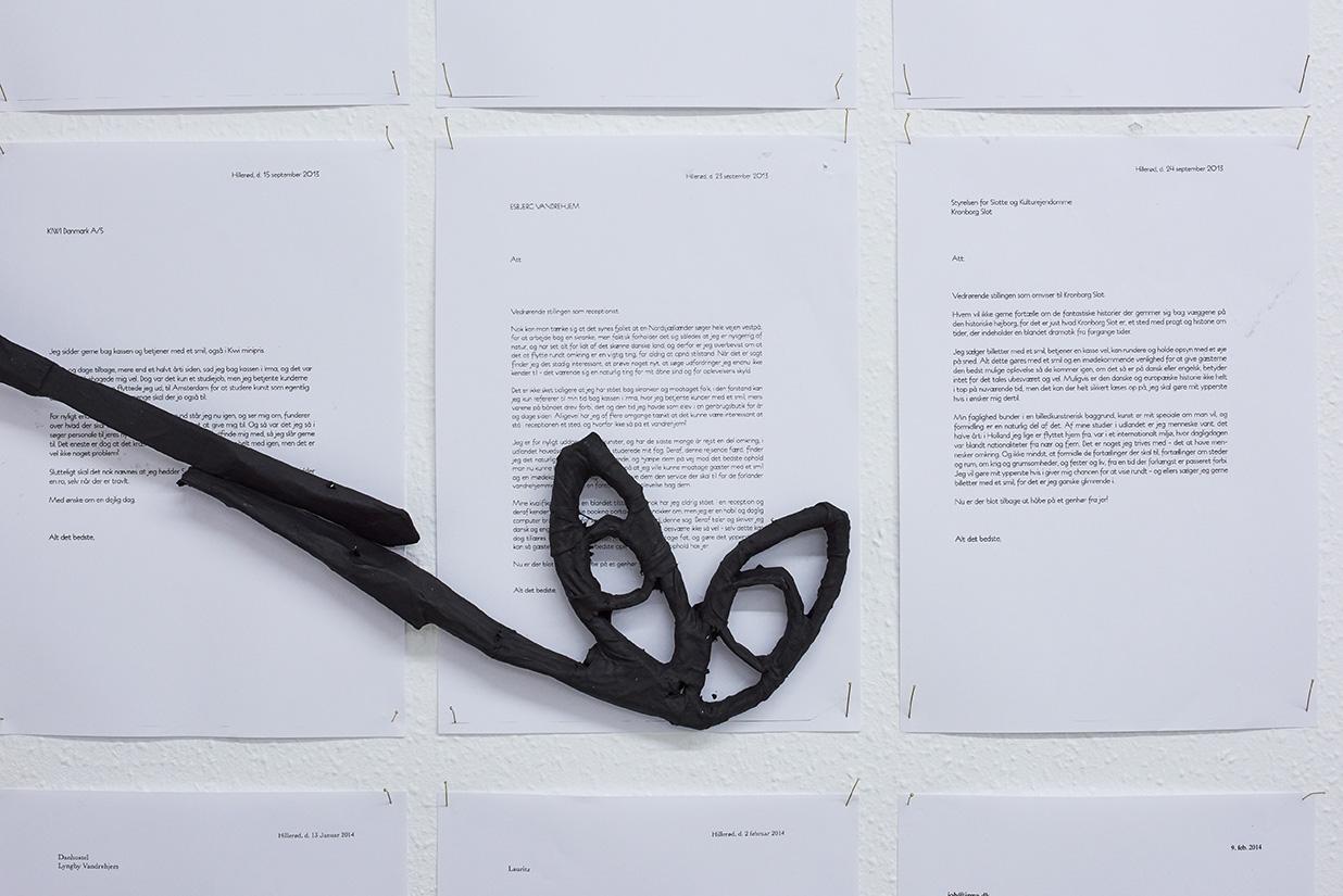 """Sandra Blichert """"L x H x B"""" (installation view). Foto: Kirstine Mengel."""