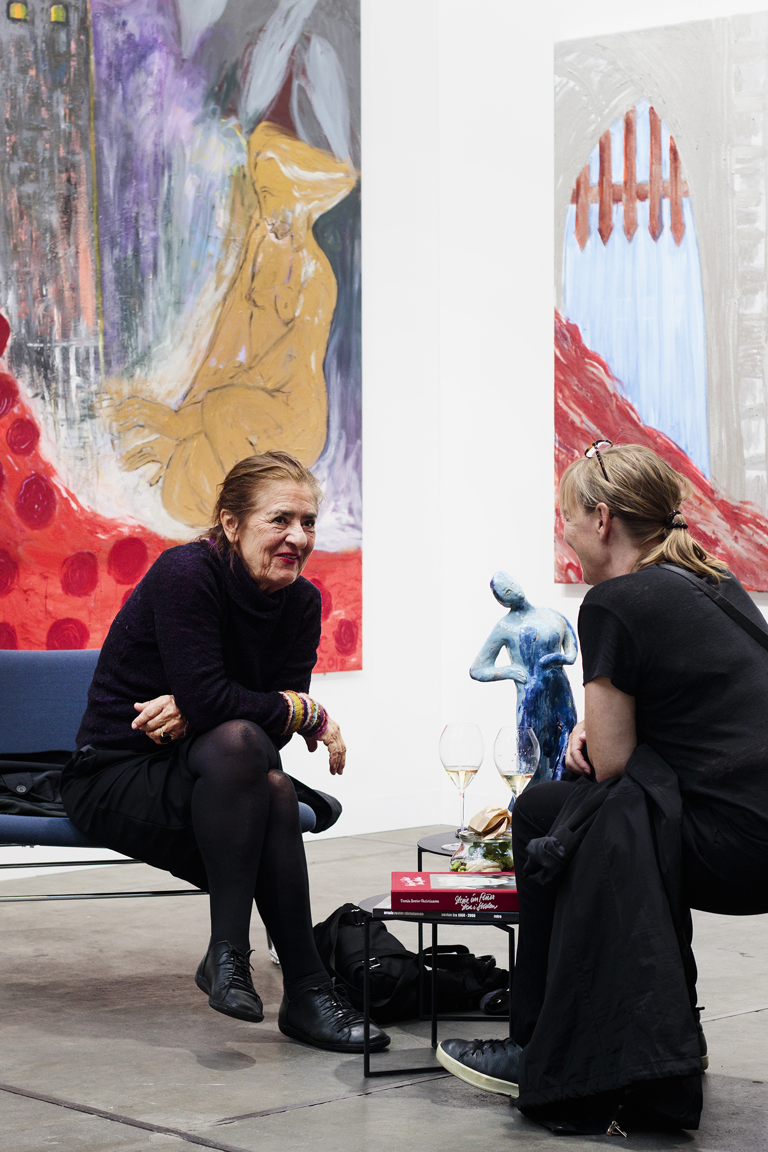 Ursula Reuter Christiansen på Code Art Fair, 2018. Foto: I DO ART Agency.